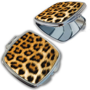 BleuReign(TM) Cheetah Print Compact Mirror