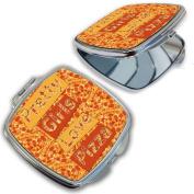 BleuReign(TM) Pretty Girls Love Pizza Compact Mirror