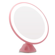 Naimo Swivel Suction Cup USB Charge LED Makeup Mirror 5X Magnification, 360 Degree Rotation , Pink