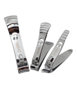 Okbool Nail Clipper Set- 3pcs Smiley Face Stainless Steel Nail Clippers Toenail Clippers and Fingernail Clippers