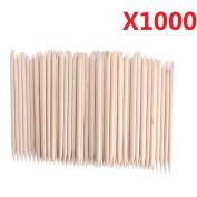 EVERMARKET(TM) 1000 pcs Nail Art Orange Wood Sticks Cuticle Pusher Remover Manicure Pedicure Tool 120mm