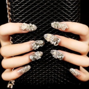 YUNAI Bling Bling Fake Nails For Wedding Long Full Cover false Nail Tips