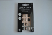 Sensationail Salon Nails Set, 28 Nails, 14 Sizes, Short, Pre-Glued 72150