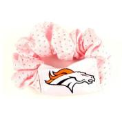 Denver Broncos Pink Hair Scrunchie - Hair Twist - Ponytail Holder by NFL
