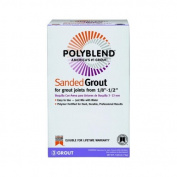 Custom Building Products 19 Polyblend Sanded Tile Grout, 3.2kg, Pewter by Custom Building Products