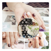 Triangle Floral Pattern Nail Art Stamp Template Image Plate Pattern #Qgirl-008