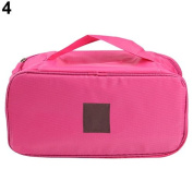 1 pc Portable Protect Bra Underwear Lingerie Case Travel Organiser Waterproof Bag Pink