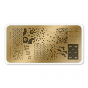 colour CLUB NAIL ART STAMPING PLATE-THUG LIFE