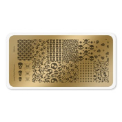 colour CLUB NAIL ART STAMPING PLATE-SKULL