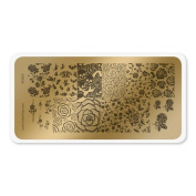 colour CLUB NAIL ART STAMPING PLATE-ROSES