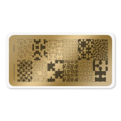 colour CLUB NAIL ART STAMPING PLATE-PUZZLE