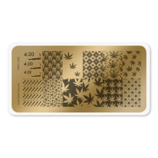 colour CLUB NAIL ART STAMPING PLATE-MARY JANE