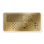 colour CLUB NAIL ART STAMPING PLATE-LOVE