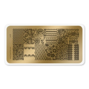 colour CLUB NAIL ART STAMPING PLATE-LACE
