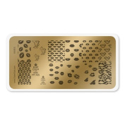 colour CLUB NAIL ART STAMPING PLATE-KISSES
