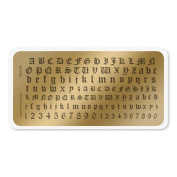 colour CLUB NAIL ART STAMPING PLATE-ENGLISH LETTERS