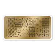 colour CLUB NAIL ART STAMPING PLATE-EGYPT