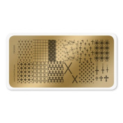 colour CLUB NAIL ART STAMPING PLATE-CROSSES