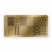 colour CLUB NAIL ART STAMPING PLATE-CHEVRON