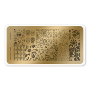 colour CLUB NAIL ART STAMPING PLATE-CALAVERA