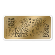 colour CLUB NAIL ART STAMPING PLATE-BUTTERFLY