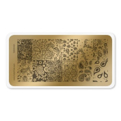 colour CLUB NAIL ART STAMPING PLATE-BANDANA
