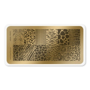 colour CLUB NAIL ART STAMPING PLATE-ANIMAL PRINTS