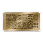 colour CLUB NAIL ART STAMPING PLATE-AFRICA