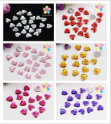 8mm Heart Rhinestone Jewellery Garment Accessory Beads