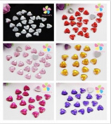 8mm Heart Rhinestone Jewellery Garment Accessory Beads