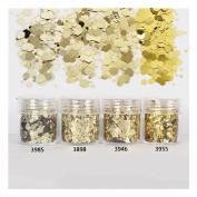 10ml/Box Glitter Powder Tips Champagne Gold 1mm & 2mm & 3mm Mixed Powder Nail Decoration #3985
