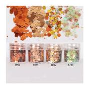 10ml/Box Glitter Powder Tips Bronze Gold 1mm & 2mm & 3mm Mixed Powder Nail Decoration #3802