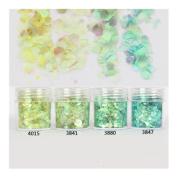 10ml/Box Glitter Powder Tips Mint Green 1mm & 2mm & 3mm Mixed Powder Nail Decoration #3841