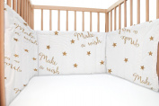 Baby Make a wish / SoulBedroom Cotton Cot Bumper Pad Half
