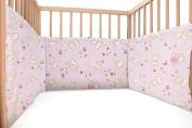 Baby Pink Kittens / SoulBedroom Cotton Cot Bumper Pad Half