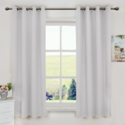 Aquazolax Premium Solid Top Ring Thermal Blackout Curtain Panels for Living Room