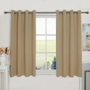 Aquazolax Solid Thermal Insulated Top Grommets Blackout Curtain Drapes for Nursery