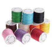 NUOLUX Cords Strings Ropes 10M 1MM for DIY Necklace Bracelet Craft Making 10pcs
