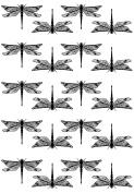 Dragonflies 2.5cm - 0.3cm - Black 16CC676 Fused Glass Decals