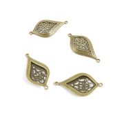 Price per 10 Pieces Fashion Jewellery Making Charms Findings Arts Crafts Beading Antique Bronze Tone R2LA7 Earring Connector Joiner