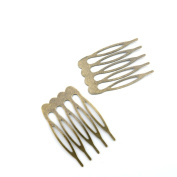 Price per 100 Pieces Fashion Jewellery Making Charms Findings Arts Crafts Beading Antique Bronze Tone K8IB5 Hair Comb