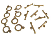 Antique Bronze Colour Toggle Clasps 12mm Pack of 50Sets