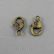 30 PCS Jewellery Making Charms Findings Supply Supplies Crafting Lots Bulk Wholesale Antique Bronze Tone Plated 09130 Heart Lobster Key Clasp Ring