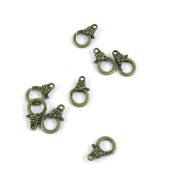 Price per 10 Pieces Fashion Jewellery Making Charms Findings Arts Crafts Beading Antique Bronze Tone P3PT4 Lobster Chain Clasps