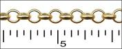 Matte Gold 4mm Rolo chain 0.3m