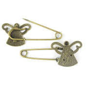 Price per 90 Pieces Fashion Jewellery Making Charms Findings Arts Crafts Beading Antique Bronze Tone 17859 Sheep Safety Pins Brooch