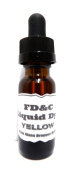30ml FDC GLASS Bottle of Yellow Candle Dye- Dropper Bottle with Childproof Cap.