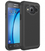 KAMII, Galaxy J3 Case, Express/Amp Prime Case, Hybrid Dual Layer Hard Plastic with Flexible Silicone Protective Case Cover for Samsung Galaxy J3 (2016) / Amp Prime / Express Prime