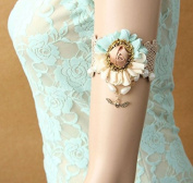 mywaxberry handmade dress accessory tiara armband chain jewellery, lace flowers love pearls