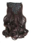 LOUISE MAELYS 16 Clips in Hair Extensions Ponytail Long Wavy Sexy Hair Piece